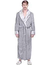AZW@ Pijamas de Pareja - Damas Pijamas de Terciopelo de Coral Gruesos Largos Y Largos