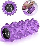 HCFGS Faszienrolle - Foam Roller Gymnastikrolle für Triggerpunkt-Massagerolle, Selbstmassage Schaumstoffrolle mit Tragetasche beim Faszientraining,Blackrolle Rolle (Purple)