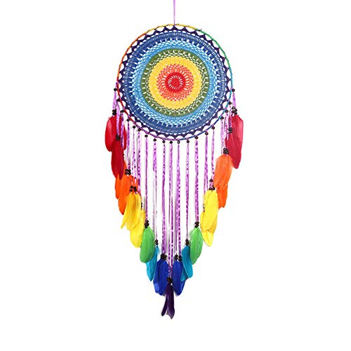 Maoran 1X Tapiz Tapicería de algodón Bohemio Atrapasueños con Flecos Inicio artesanía decoración Colgante de Pared joyería Creativa Borla decoración de la Boda Colgante 40cm