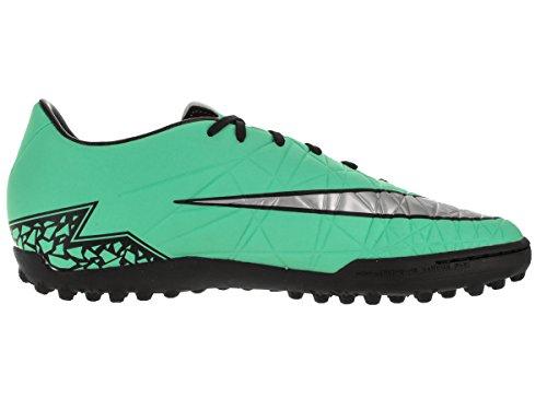 Nike  Hypervenom Phelon II TF, Chaussures de foot pour homme Multicolore (Verde / Plateado / Naranja (Grn Glw/Mtllc Slvr-Hypr Orng-B))