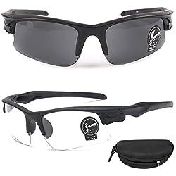 QHIU Lunettes Tactiques Anti-Explosion UV Protection Goggle pour Airsoft Cyclisme Moto Sports de Plein air Homme Femme Unisex(2PCS)