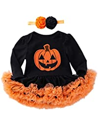 K-youth Vestidos Bebe Niña Bautizo, Ropa Bebe Recien Nacido Niña Bebé Mono Halloween 2018 Ofertas Otoño Invierno Vestido Bebe Ceremonia Tutu Princesa Vestido de niñas