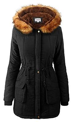 iLoveSIA Womens Warm Winter Parkas Coats Faux Fur Lined Overcoats