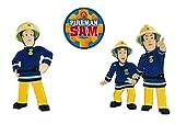 Mono-Quick Feuwehrmann Sam, 3er Set Aufbügler,Aufnäher,Bügelbilder,Patch,Sticker,Bilder zum aufbügeln, Polyester, Mehrfarbig, 8.5x4cm, 3