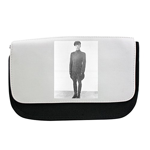 Pencil case with A chauffeur is a person employed to drive a passenger vehicle.. . chauffeur standing discipline hat cap tidy outfit servant black and white (Outfit Chauffeur)