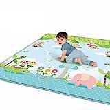 YVSoo Tapis Jeu pour Bébé Tapis de Jeu XXXL Grand Tapis de Sol pour Enfant Rampe Tapis en Soie LDPE Imperméable 200 x 180 x 1 cm
