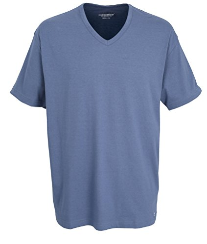 Ceceba Herren T-Shirt, Kurzarm, Polyester, Baumwolle, Single Jersey blau, Melange 68 -