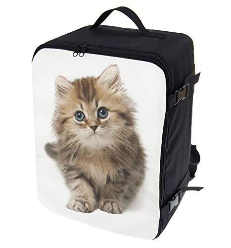 Multifunktions Handgepäck Rucksack gepolstert Flugzeugtasche Handtasche Reisetasche Rucksack gepolstertkoffer für Flugzeug Größe 40x30x20cm Katze [102] (Was Ist Chat)