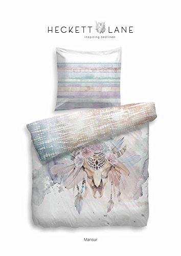 Heckett & Lane algodón Cama Mansur I Color Multi I de Puro algodón I Cremallera I atrapasueños I Reversible Cama, 135 x 200 cm