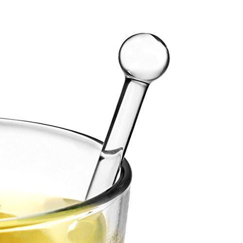 Glasrührstäbchen für Getränke, 6 Stück
