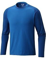 MOUNTAIN HARDWEAR MENS BUTTERMAN CREW NECK SHIRT ALTITUDE BLUE (MEDIUM)