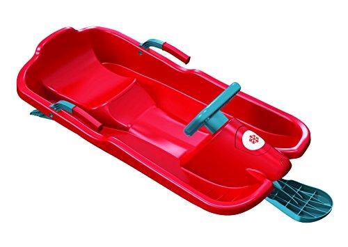 Plastkon Lenkschlitten Steerable sledges SKIBOB, rot, One Size, 41107630