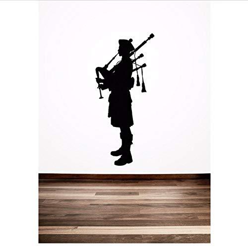 Jasonding Dudelsackpfeifer Schottische Kreative Spezielle Wandaufkleber Schottland Englisch Stil Home Room Cooles Dekor Vinyl Kunst Wandbilder Aufkleber25 * 56 Cm -