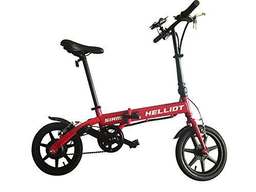 Helliot Bikes EB_01 Bicicleta Eléctrica, Unisex Adulto, Rojo, Estándar