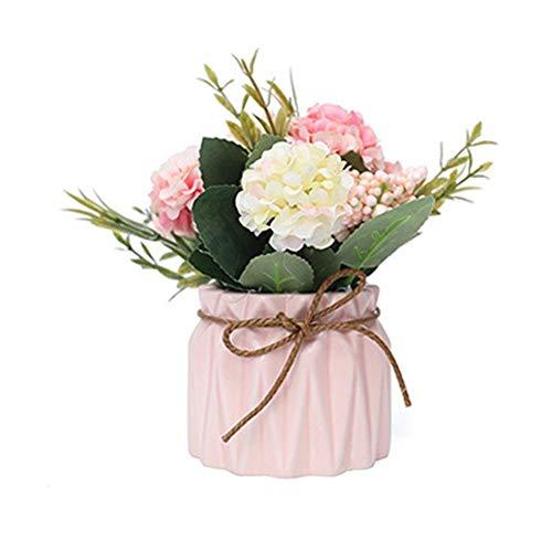 Clevoers Künstliche Fake Bouquet Für Wohnaccessoires & Deko Künstliche Rose Kunstblumen Blume Dekoration Blumenstrauß Blumenarrangement (Pink)