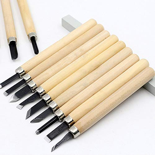 HLDUYIN Carving Tool Set, [12 Stück] Haushalt Holzschnitzerei Messer Werkzeuge Meißel Kit Für Die Holzbearbeitung Kochen Obst Gemüse Peeling Carving, Etc, Holz