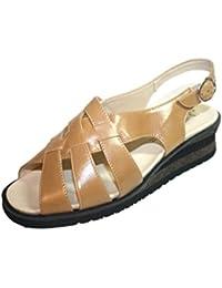 Romika - Sandalias de vestir de cuero para mujer marrón marrón 38
