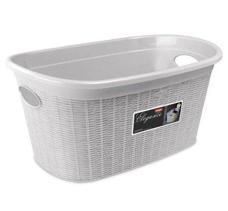 Stefanplast elegance cesta, plastica, bianco, 38x58x28 cm