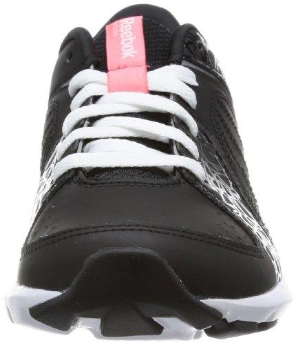 Reebok STUDIO BEAT VI LOW RS V55698 Damen Leichtathletikschuhe Mehrfarbig (BLACK/WHITE/VICTORY PINK/PURE SILVER)
