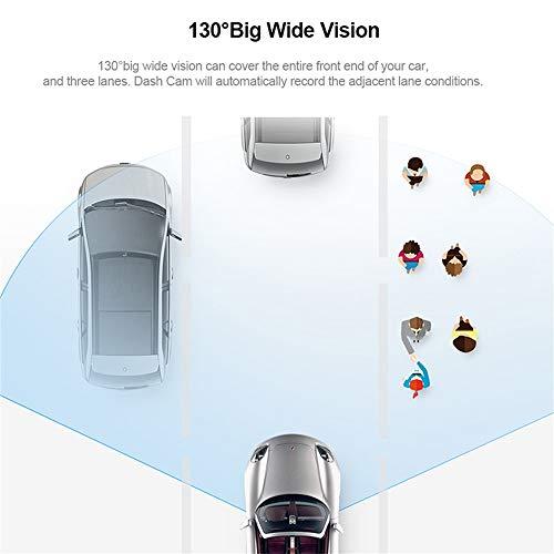 41VzKHhJcgL - 70mai Grabador de Conducción de Automóviles Cámara de Dash 1080 P Full HD Smart Car DVR Versión Nocturna 130 Grados FOV Camo Dash CAM G-Sensor Dashcam Control de Voz Inglés, Negro