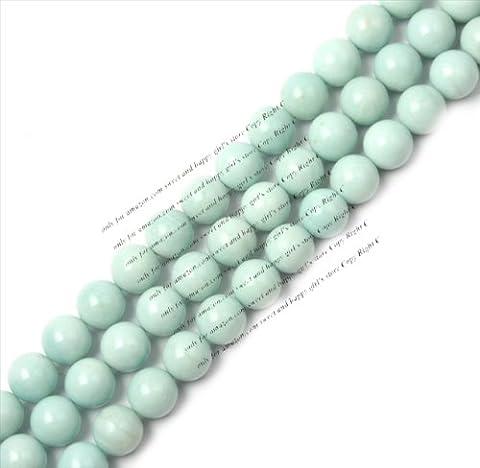 Sweet & Happy Girl'S Store 16mm Round Amazonite Gemstone Geads Strand 15 Inch Jewellery Making