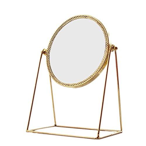 Tischspiegel Continental Simple Gold Copper Spiegel Spiegel Hochzeitsspiegel Portable Beauty...