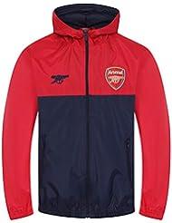 07e7075c5199a Arsenal FC - Chaqueta cortavientos oficial - Para niño - Impermeable -  Estilo retro