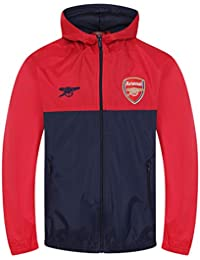0acca024080 Arsenal FC Official Football Gift Boys Shower Jacket Windbreaker Red