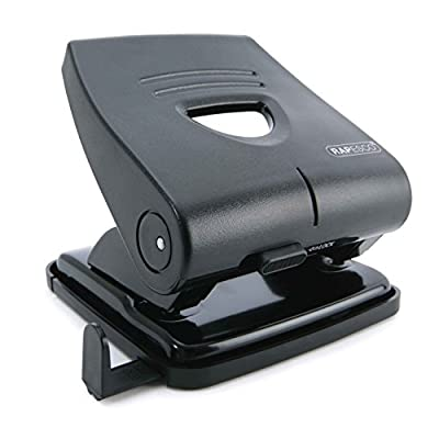 Rapesco 827-P 2-Hole Punch, 30 sheet Capacity - Black