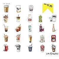 sundada Sticker Kawaii Cute Coffee Drink Paper Decoration Stationery Stickers Diy Diary Planner Label Stickers 46Pcs/Box