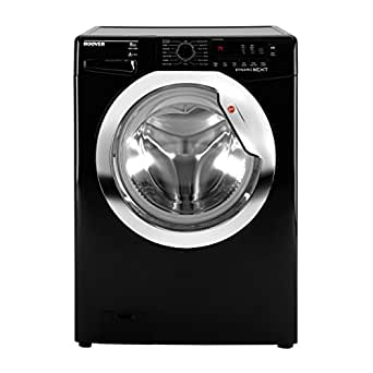 Hoover DXC58BC3 Washing Machine 8 Kg Load Black 1500rpm Spin 12 Programmes A Washing Performance
