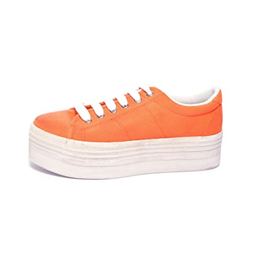 JEFFREY CAMPBELL - .ZOMG CANVAS WASH - ORANGE W Arancione