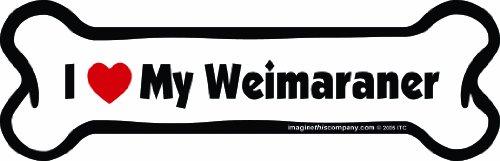Imagine This! Knochen Auto-Magnet, I Love My Weimaraner, 2von 17,8cm -