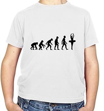 T-shirt Evolution of Man Ballet Dancer - enfant - danseur - blanc - XS (3-4 Ans)