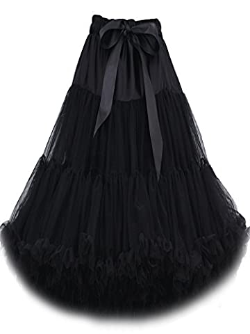 FOLOBE Frauen-Ballettröckchen-Kostüm-Ballett-Tanz mehrschichtiger geschwollener Rock-erwachsener luxuriöser weicher Petticoat 60cm / 23.6