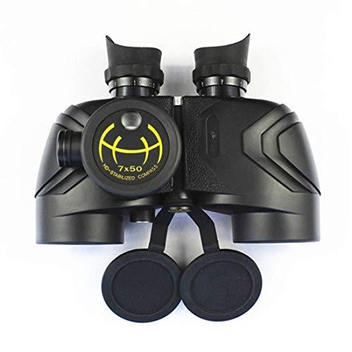 LLG-STWYJ Fernglas 7x50 HD Fernglas mit wasserdichtem Nautik-Teleskop (Kompass) für Erwachsene