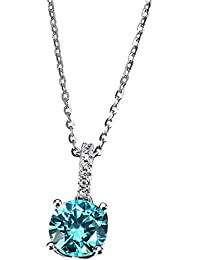 Goldmaid Ladies'Necklace with Pendant Signity Swarovski Elements 925 Silver Rhodium-Plated Round Cut Zirconia 45 CM