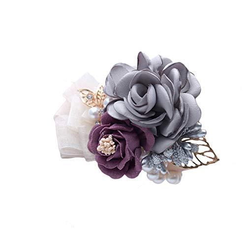 Da.wa sposa damigella d' onore bracciale camelia bouquet da sposa cinturino fiore cinturino fiore bead catena decorazione