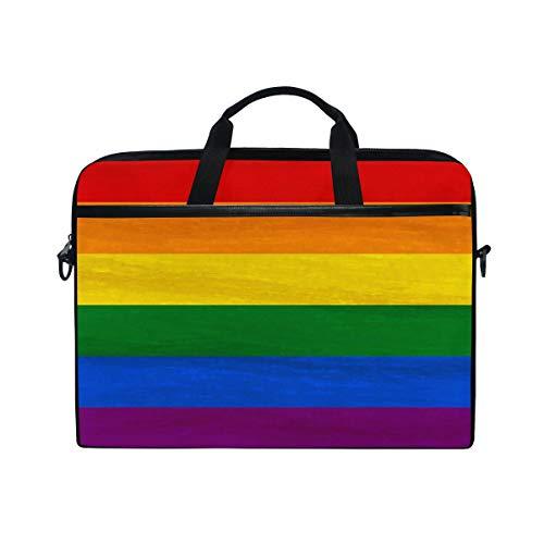 CPYang Laptop-Tasche mit Regenbogen-Streifen-Muster, für Laptop, Notebook, Laptop, Schultertasche für Jungen, Mädchen, Damen, Herren Paisley Boys Band