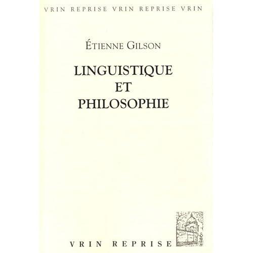 Linguistique et philosophie