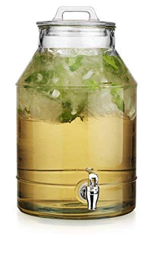 Classic Getränk Panel Drink Spender Robustes Glas (3) L Glas mit Spigot.