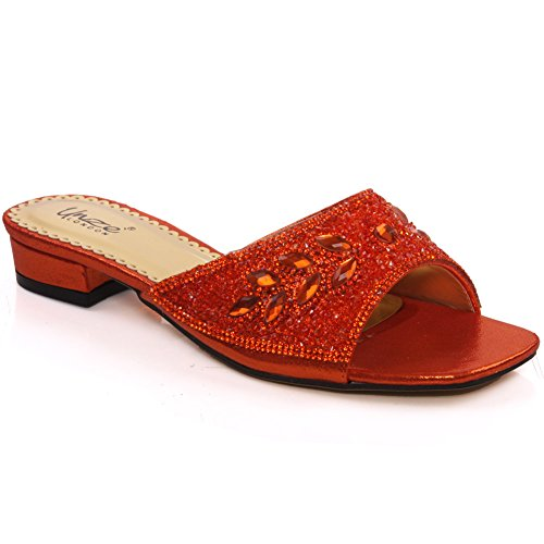 Unze Für Frauen Wansi ' Dekoriert Partei Slippers - 92862A-5 Orange