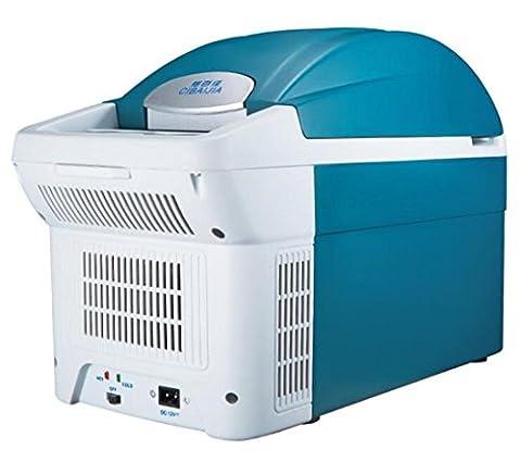 JJH-ENTER 8.5l Mute Économie d'énergie Réfrigération domestique Petit Réfrigérateur Réfrigération pour voiture extérieure Chauffage Boîte tempérée