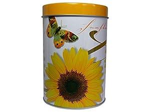 Boîte à thé en métal 300 g avec sommerfrohen motif fleurs tournesols et papillo