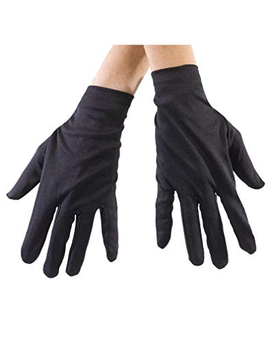 (Schwarze Stoff Handschuhe)