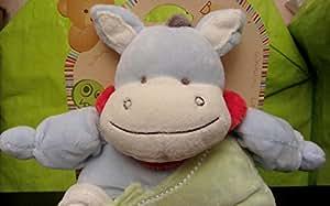 Babynat - Pantin Ane avec doudou mouchoir - Peluche bébé 26 cm