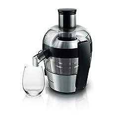 Idea Regalo - Philips HR1836/00 Centrifuga per Frutta e Verdura dal Design Compatto, con QuickClean Pulisci Facile Viva Collection, 1,5 Litri, 500 Watt