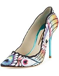QPYC Color de hechizo personalizado Impresión de zapatos de tacón alto Zapatos de banquete Zapatos de baile Zapatos...