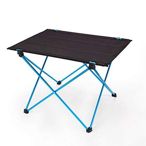 ZY Tragbarer Licht Camping Klapptisch und Stühle Outdoor Aluminium Klapptisch Picknicktisch Camping Möbel Auto Familienreise,Blue,L