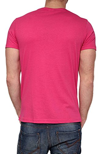 Phazz Brand Munich Herren Shirt Motiv T-Shirt EIGHT, Farbe: Orange Pink